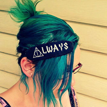 Harry Potter inspired Always Deathly Hallows - Hair Clip or Headband