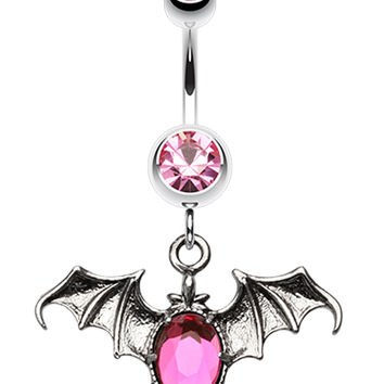 Bat Sparkle Belly Button Ring