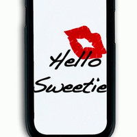 Samsung Galaxy S3 Case - Hard (PC) Cover with kiss hello sweetie Plastic Case Design
