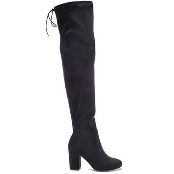 Chinese Laundry Kiara -Black Suede High-Heel Boot