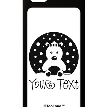 Personalized Matching Polar Bear Family Design - Your Text iPhone 5 / 5S Grip Case  by TooLoud
