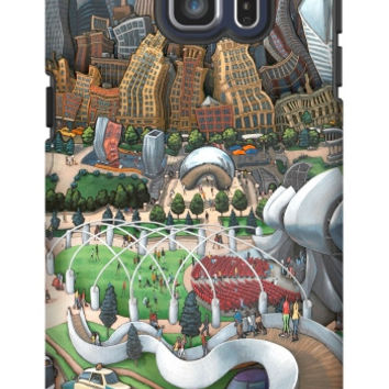 Michael Birawer Chicago Bean Galaxy S6 Edge Plus Extra Protective Bumper Case