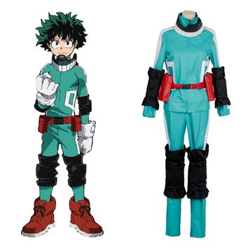 2017 Boku no Hero Academia Cosplay Costume Uniform My Hero Academia Izuku Midoriya Battle Suit Cosplay Costume