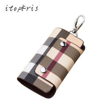 DCCKL6D Fashion Women Housekeeper Leather Key Holder Home Key Chain Female Patterns Key Organizer Man Car Cover Driving