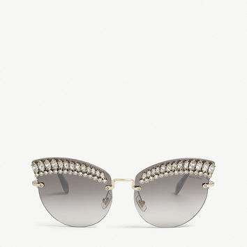 MIU MIU SMU58T frameless cat-eye sunglasses