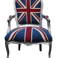 vintage style union jack throne chair by made with love designs ltd | notonthehighstreet.com