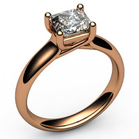 Engagement ring Diamond ring Solitaire ring Trellis 18K White Yellow or Rose gold Jewelry