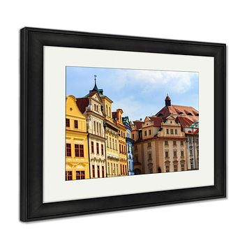 Framed Print, Old Town Square In Prague With Traditional Architecture Czech Republic Travel