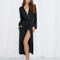Satin Edged Jersey Robe
