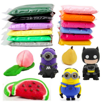 Retail 20g 14 colors DIY safe and nontoxic Malleable Fimo Polymer Clay playdough Soft Power play dough gifts for children
