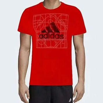 DCCKR2 ADIDAS counter summer new sports leisure breathable T-shirt F-ADD-MRY Red