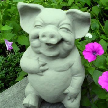 HAMLET The Laughing Pig Indoor Outdoor Statue by marionlovett