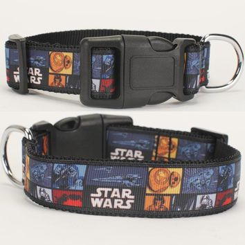 """Star Wars Force Episode 1 2 3 4 5 NEW 1""""25mm hot  pattern printed Dog Collar,1 inch top Dog Collar 2 size avaiable AT_72_6"""