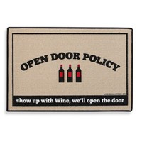 Open Door Policy Doormat