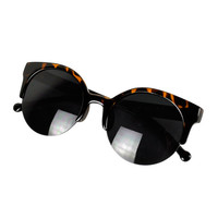 Leopard Print Retro Cat-Eyed Sunglasses
