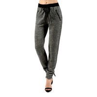 French Terry Jogger Pants, Charcoal