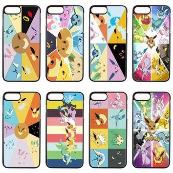 cute anime  Eeveelutions cover case For ipod touch iPhone 4 4s 5 5s 5c SE 6 6s plus 7 7plus 8 8plus X phone caseKawaii Pokemon go  AT_89_9