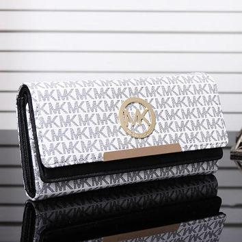 Michael Kors MK Fashion New More Letter Leather Women Wallet Purse