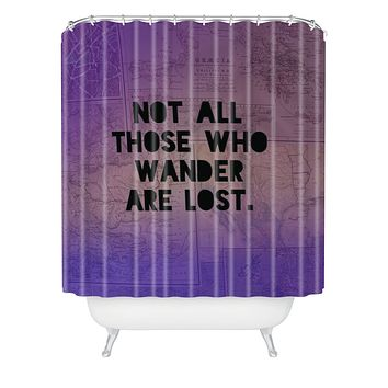 Leah Flores Those Who Wander Shower Curtain