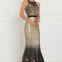 GL1505 Sequin Illusion Sweetheart Mermaid Long Dress
