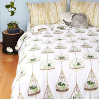 ModCloth Rustic Terrific Terrarium Duvet Cover in Full, Queen