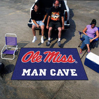 "University of Mississippi - Ole Miss  Man Cave UltiMat Rug 60""x96"""