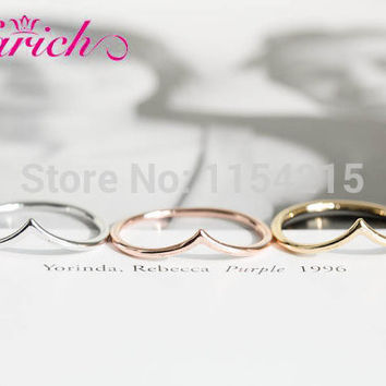 Hot Fashion Vintage Handmade Gold,silver,rose gold chevron rings for women,couple rings,Dainty rings EY-R005