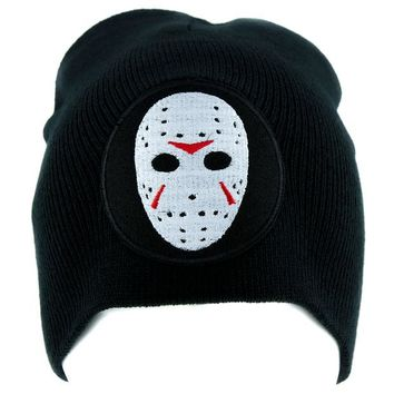 ac spbest Hockey Mask Friday the 13th Beanie Horror Clothing Knit Cap Jason Voorhees