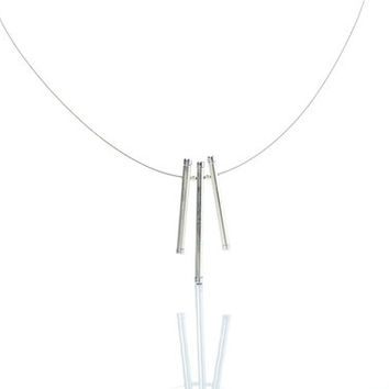 Iskin Bow Necklace - 3 pendants - Contemporary Jewelry - Pendant Necklace - Minimalist