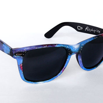 Sunglasses  Space Galaxy Nebula Custom Wayfarer by ketchupize