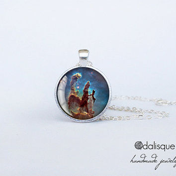 Galaxy nebula pendant Eagle Nebula Pendant Pillars of Creation Necklace Galaxy Cluster Jewelry outer space jewelry cs143
