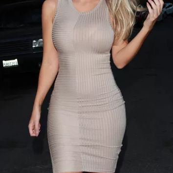 HOT VEST SHOW BODY TIGHT DRESS