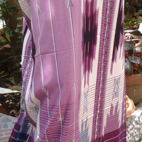 man's sarong 2 tone purple and cream  MA11