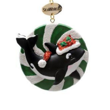 SeaWorld Shamu Candy Resin Christmas Ornament New with Tag