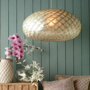 Natural Capiz Shell Pendant Lamp