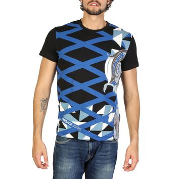 Versace Jeans- Crossed Lines Logo Shirt