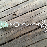 Seafoam Green Sea Glass Necklace by SeaglassReinvented