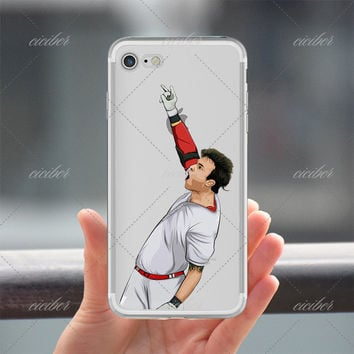 Rock On Baseball Clear Phone Case for ALL iPhone 7 7Plus 6 6s Plus 5 5s SE