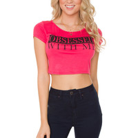 Obsessed With Me Crop Top - Hot Pink