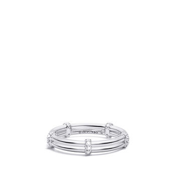 DY Astor Two Row Pavé Wrap Band with Diamonds in Platinum