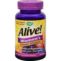 Nature's Way Alive - Women's Premium Gummy Multi-Vitamins - 75 Chewables