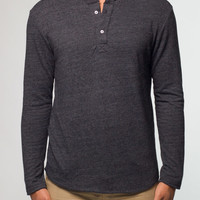 Duofold Henley - Charcoal : Marine Layer