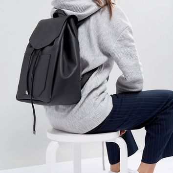 New Look Minimal Pocket Backpack at asos.com