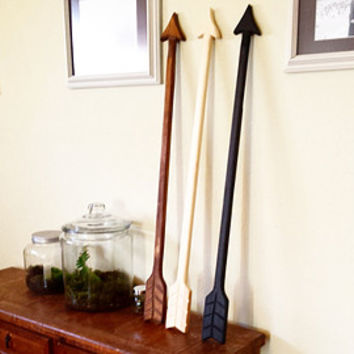 Wood Arrow - 3 Pack- Wood Arrow Wall Art -  Wooden Arrows