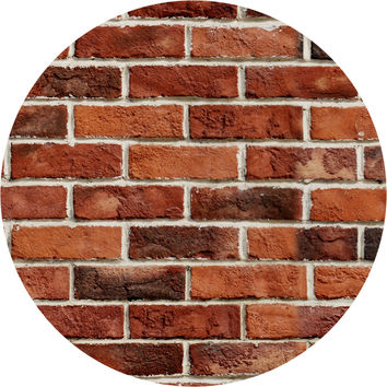 Red Brick Circle Wall Decal