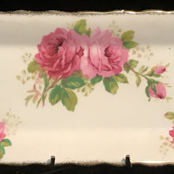 Royal Albert American Beauty Fine Bone China Rectangle Bread Plate
