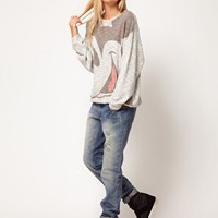 ASOS Sweatshirt with Mickey Face at asos.com