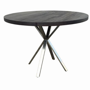 "Espresso 42"" Round Modern Dining Table"
