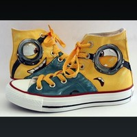 Minions Shoes - Free Shipping Hand Painted Shoes from denimtrend