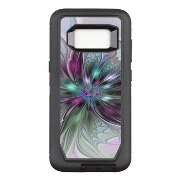 Colorful Fantasy Abstract Modern Fractal Flower OtterBox Defender Samsung Galaxy S8 Case